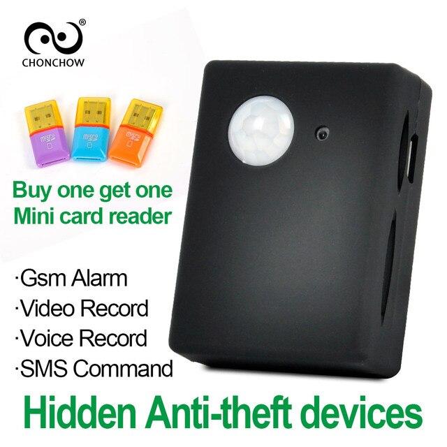 ChonChow Mini Gsm Pir Báo Động X9009 FK-007X Không Dây Hồng Ngoại Camera GSM Tracker Autodial PIR MMS Spy Thiết Bị Nghe