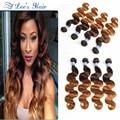 T4/30 8A Ombre Brazilian Hair Weave Bundles Remy Human Hair Brazilian Virgin Hair Body Wave Mink Brazilian Body Wave 4 Bundles