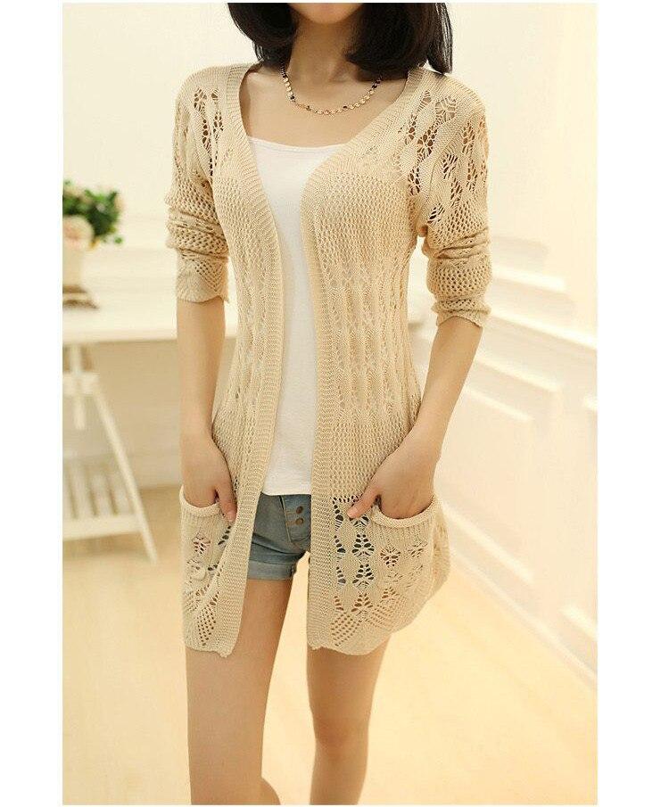 Womens Sweater Spring Jacket Loose Shawl 59