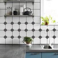 100pcs/set Floral Laces Porcelain Tile Stickers Bathroom Living Room Floor Decals Waterproof Home Decoration Wallpaper 10*10cm