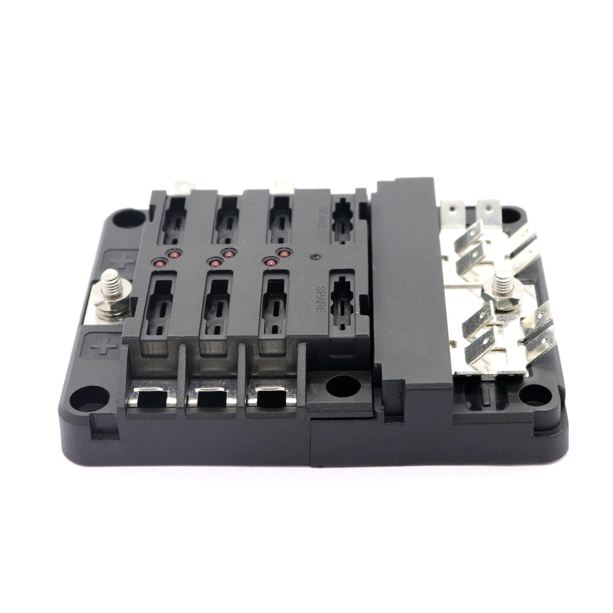 small resolution of universal car blade fuse block 6 circuits ground negative cover abs plastic for bus bar cover boat marine car accessory tool in fuses from automobiles