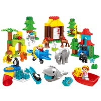 Creative big Building Blocks ocean zoo set bear forest figure children Toys diy Bricks Compatible With Duplo birthday super Gift