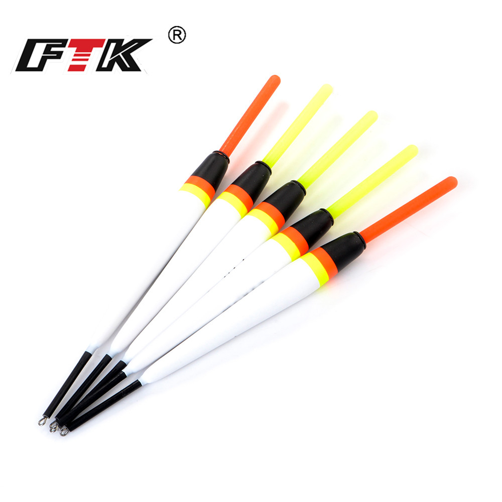 FTK 5pcs/lot 2g 3g 4g 5g Luminous Barguzinsky Fir Bobber Carp Fishing Float 15.5-17cm Light Stick Float Buoy For Fishing Tackle