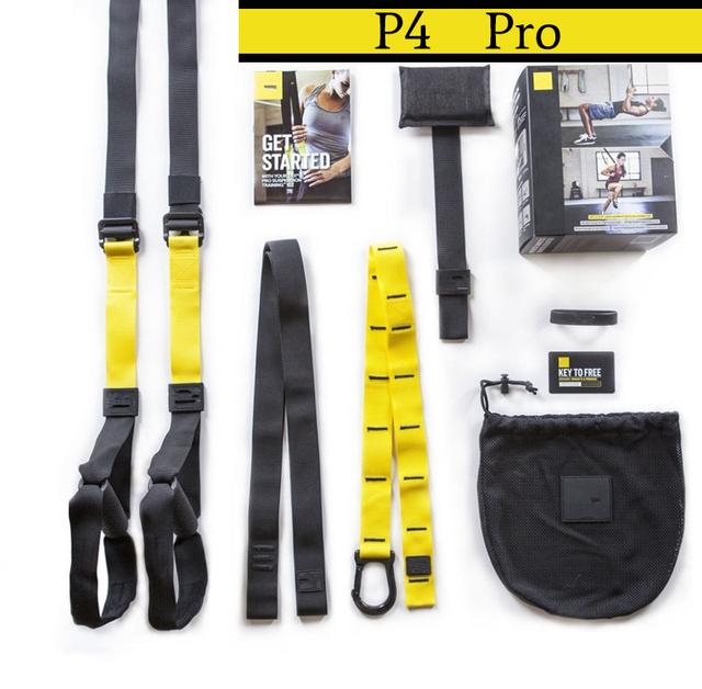 P4 Pro Trainer Suspensão TRX Treinamento Resistido Bandas Esporte Cintos Correias Para Ginásio Peso Corporal Com LOGOTIPO E CAIXA