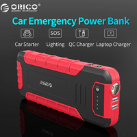 ORICO CS3 18000mAh Power Bank Multi function QC3.0 External Battery Vehicle Engine Booster Emergency Power Bank with Flashlight