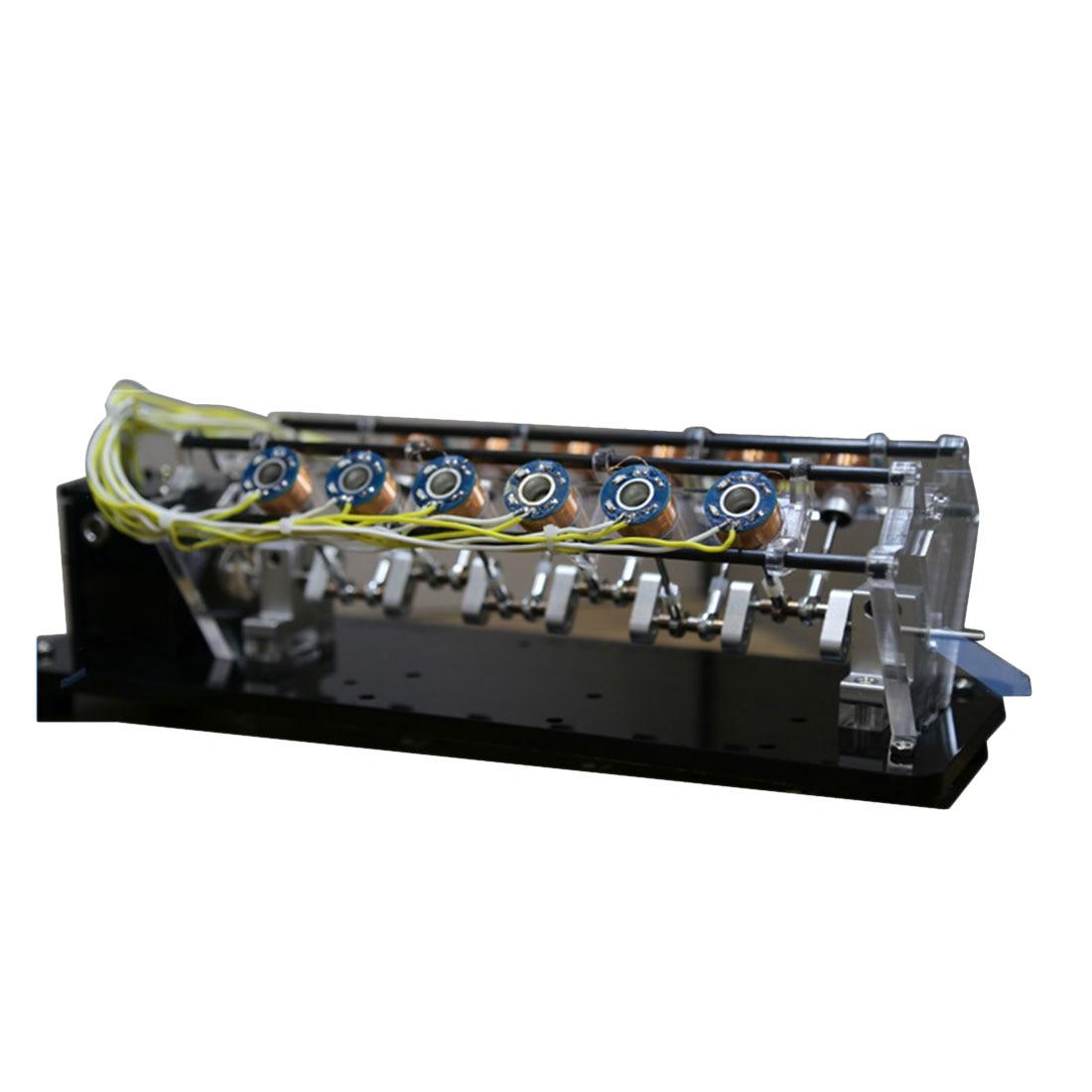 Surwish Stark 5v 6w Power V shape Electromotor Model High Speed Electromagnet Car Engine of 12 Coil Coil Random Color