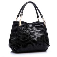 Luxus Frauen Krokodil Handtaschen Qualität Doppel-reißverschluss Leder Geprägte Tablette Sac ein Haupt Alligator Designer Umhängetasche