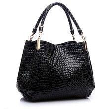 Luxury Women Crocodile Handbags High Quality Double Zipper Leather Embossed Tablet Sac a Main Alligator Designer