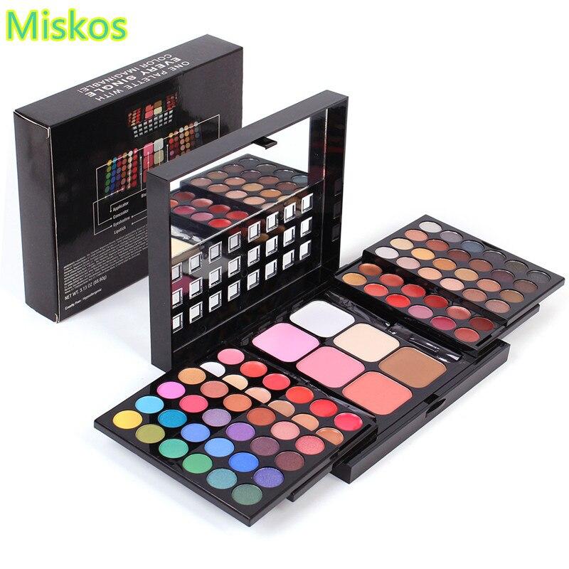 Makeup Set 78 Color Eyeshadow Palette Set 48 Eyeshadow 24 Lip Gloss 6 Foundation Makeup Kit Cosmetics Eye Shadow Kit Maquiagem