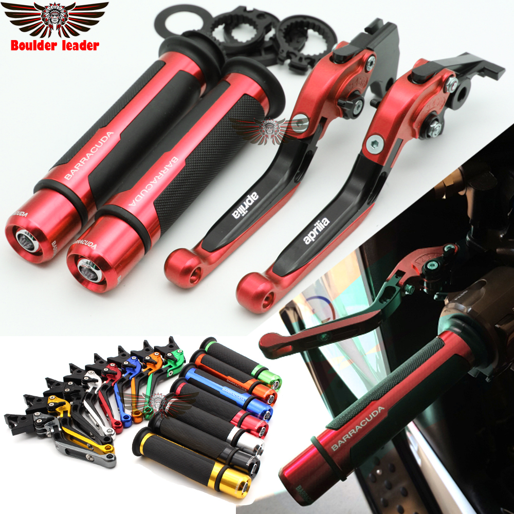 For Aprilia RSV MILLE / R 1000 2004-2008  Motorcycle Adjustable Folding Brake Clutch Levers Handlebar Hand Grips for aprilia rsv 1000 mille 2004 2007 cnc aluminum front