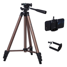 купить Profesional Camera Tripod Stand for Canon Nikon Sony DSLR Camera Camcorder Mini Protable Tripod For Phone Camera дешево