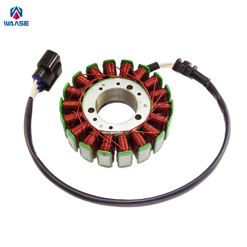 waase Motorcycle Engine Magneto Generator Charging Alternator Stator Coil For Yamaha YZF R1 2002 2003 new stator coil for yamaha yfm550 yfm700 grizzly 2009 2014 10 11 12 13 generator