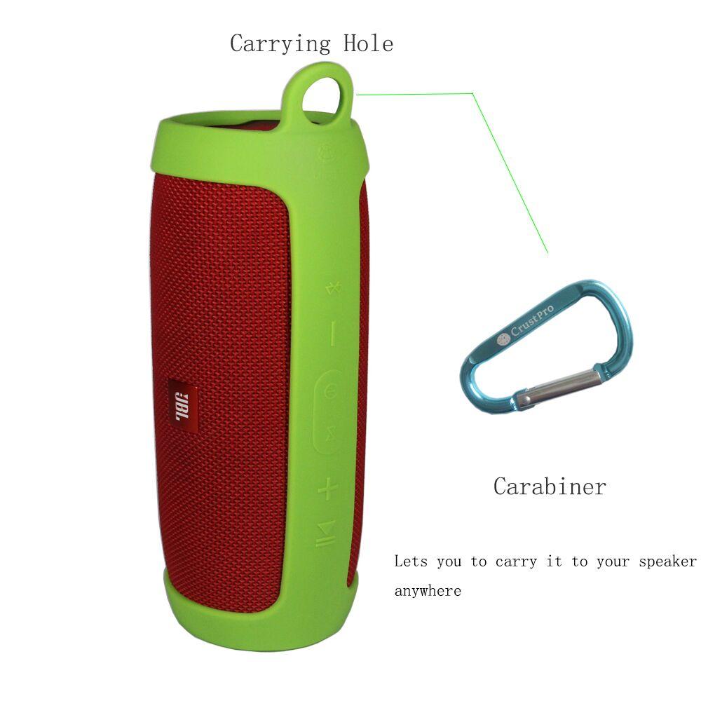 imágenes para Descuentos promocionales de silicona resistente cubierta carrying case bolsa de la manga para el altavoz jbl cobran 3 charge3 extra mosquetón ofrece