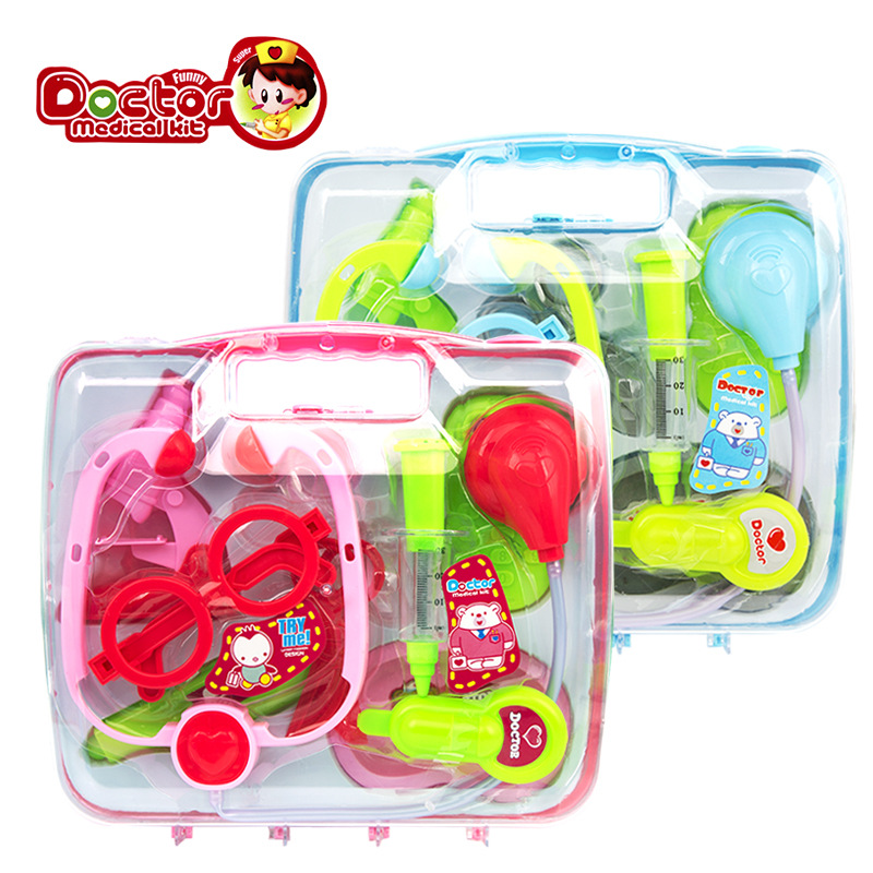 New Baby Kids Doctor Play sets Simulation Medicine Box Stethoscope Injections Children g ...