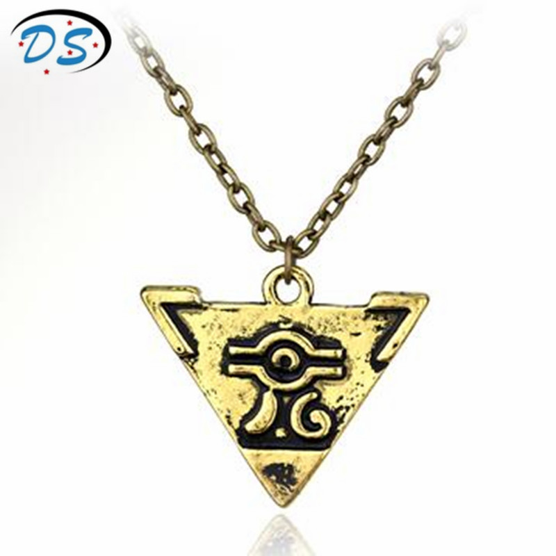 Yu Gi Oh Necklace Yu-Gi-Oh Alloy Pendant Necklace Hot Anime Jewelry Yugioh Millenium Pendant Necklace for men Vintage Style ...