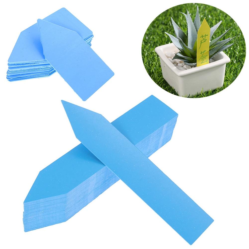 100PCS/lot New Mini Greenhouse Waterproof Reusable Plants Seedling Tags Garden Tools Classification Marker Nursery Pot PVC Label