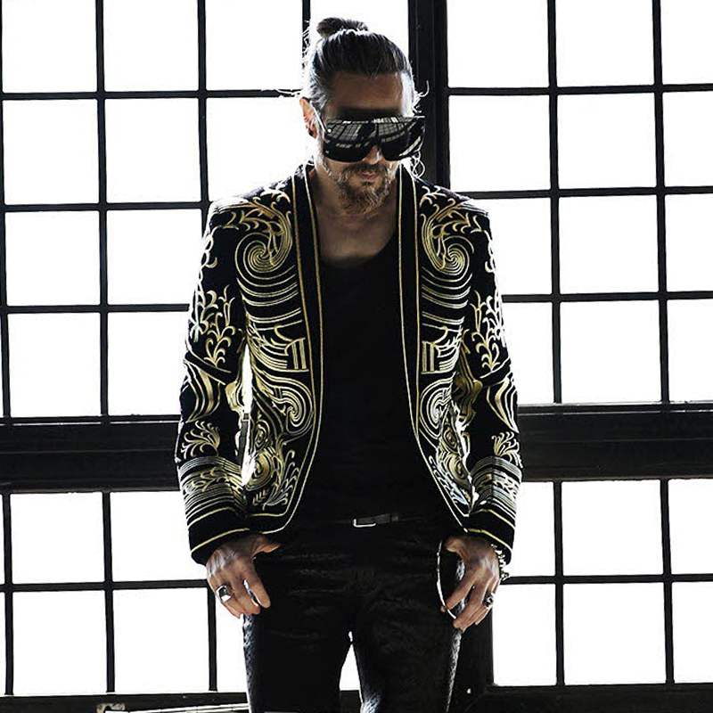 Luxury Baroque  Blazer Men Heavy Wormanship Embroidery Suit Jacket Male Blazers Men  Terno Masculino Blazer Masculino Slim Fit