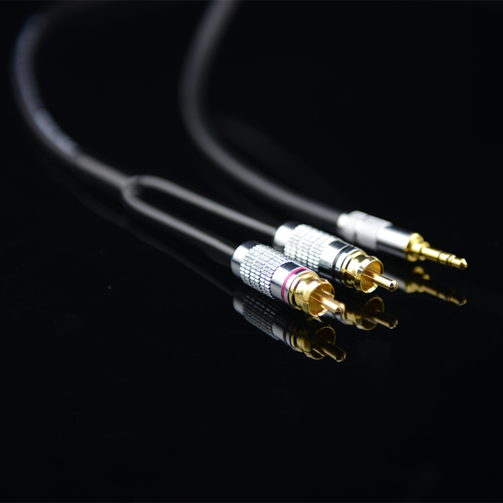 MonsterProlink Standard 100 Audio Cable Stereo 3.5mm To 2 RCA Y Cable For MP3 CD DVD TV, Audiophile Cable Free Shipping