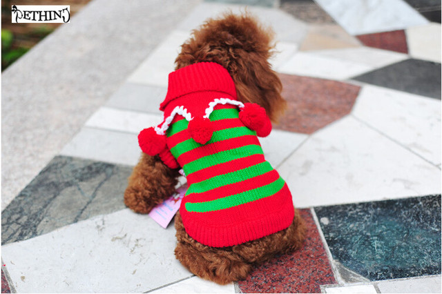 Dog Christmas Sweater.Us 4 88 26 Off Pet Dog Christmas Sweater Pet Clothing Dog Clothes For Christmas Holiday Teddy Clothes Puppy Sweater Clothes In Dog Sweaters From