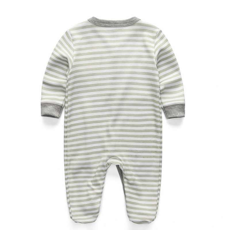Одежда для новорожденных из 2 предметов серый хлопковый комбинезон для мальчиков одежда с медведем Детские пижамы Детские комбинезоны с длинными рукавами, комплект одежды для маленьких девочек