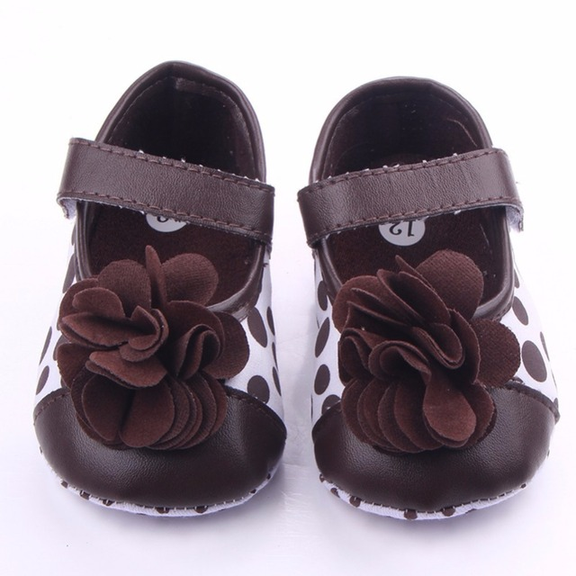 2019 Spring Infant baby Girls Flower shoes Soft Sole Flock First Walkers Crib Shoes 0-18 Months 1