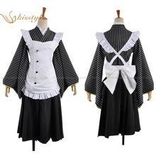 Kisstyle Fashion Love Live! Umi Sonoda Servant Clothing Housemaid Uniform Cosplay Costume,Customized Accepted