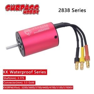 Image 1 - 2838 3.175mm 3200KV 3600KV 3700KV 4400KV 4700KV 5100KV 5700KV 브러시리스 모터 2S 3S 1/14 1/16 RC 오프로드 온로드 카