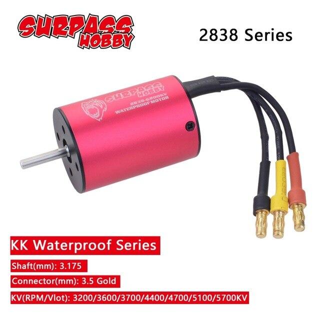2838 3.175mm 3200KV 3600KV 3700KV 4400KV 4700KV 5100KV 5700KV 브러시리스 모터 2S 3S 1/14 1/16 RC 오프로드 온로드 카