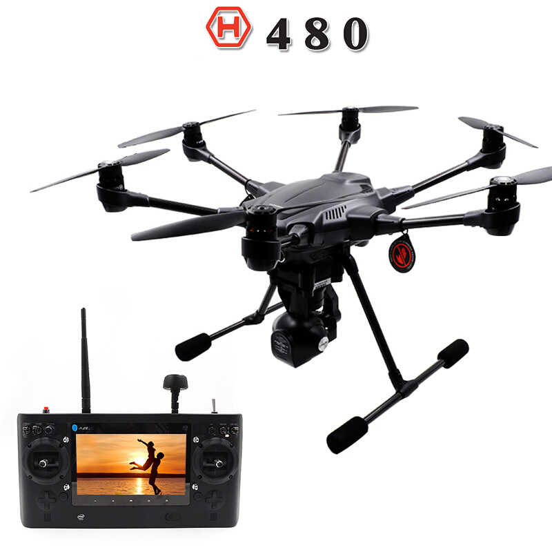 YUNEEC Typhoon H480 Drone Quadcopter con CGO3 cardán 4K-Resolution cámara HD