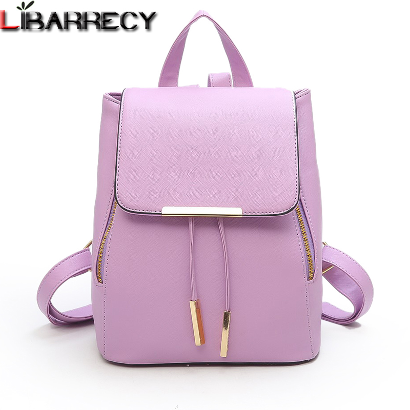 Fashion Backpack Female Famous Brand Leather Women Backpack Large Capacity Bookbag Leisure Travel Shoulder Bags For Women 2018