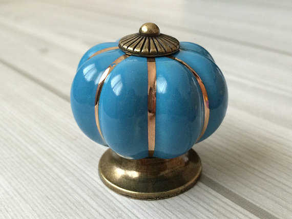 Aliexpress.com : Buy Blue Cabinet Knobs Pumpkin Knobs