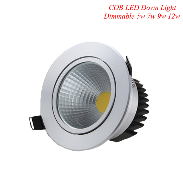 Us 9 5 Super Bright Dimmable Led Down Light Cob Ceiling Spot 6w9w 12w 15w Recessed Lights Warm Cool White Indoor Lighting In