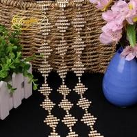 Point Drill Diamond Trim Clothing Decoration1YD Crystal Ribbons Party Wedding Supplies Rhinestone Decorations Wedding