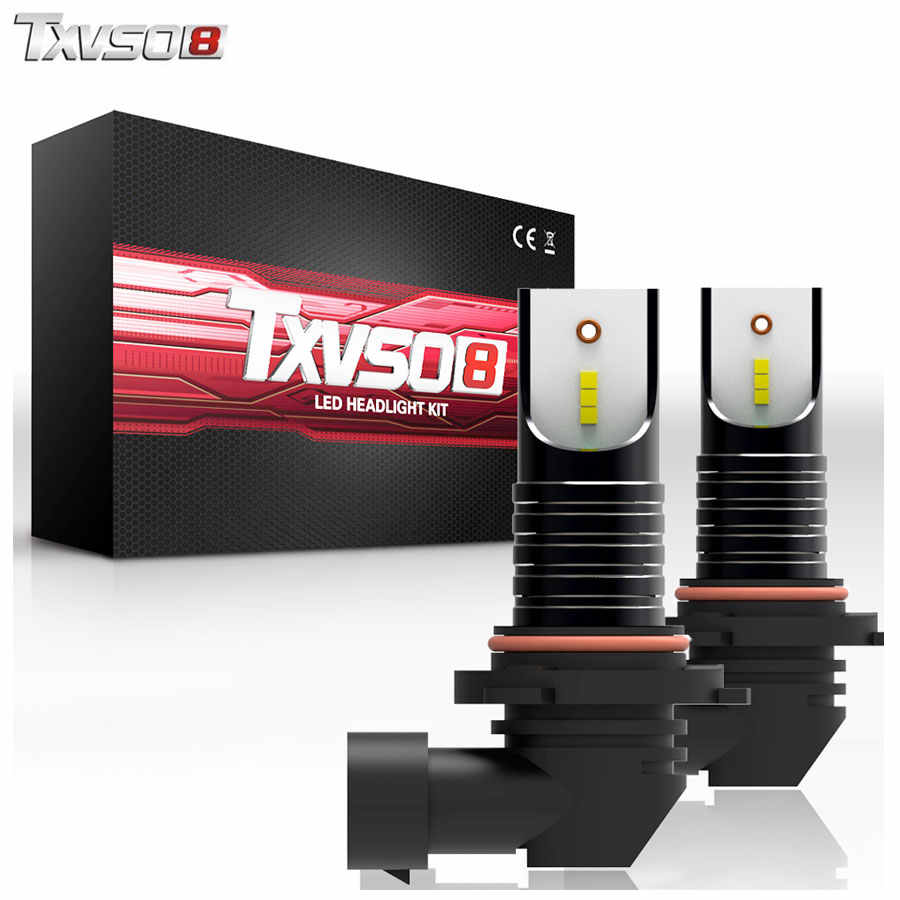TXVSO8 2PCS 9006 bombilla LED Car Headlight Bulbs CSP Chip 12V 30000LM 6000K Mini led auto Car lights Bulb 55W frontale headlamp