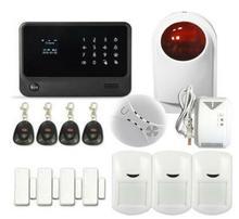 Envío libre de DHL sistema sistema de alarma sms de alarma wifi IOS Android APP Sistema de Alarma Antirrobo Inalámbrica 433 MHZ GSM SMS de la seguridad Casera alarma