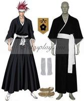 Bleach 6th Division Lieutenant Abarai Renji Cosplay Costume E001