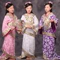 Los niños de la Muchacha Vestido Chino Antiguo Hanfu Trajes de la Dinastía Tang Princesa Real Vestido de Baile Niños de Baile Chino