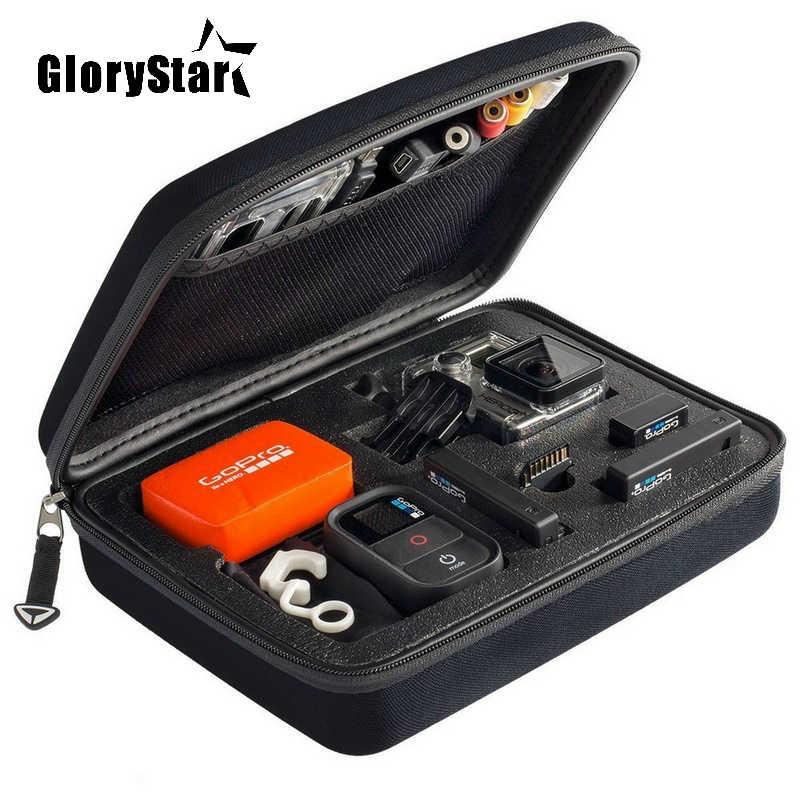 GloryStar Портативный Средний Сумка для фотокамеры EVA хранения пакет портативный чехол для Go Pro Hero 5 4 3 3 + 2 1 SJCAM SJ4000 SJ5000 SJ6000