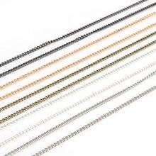 5 Mt/los (3x2mm) eisen Metall Gold/Rotguss/Bronze/Silber Überzogene Ketten Fitting Für Halskette Armbänder DIY Schmuck Machen