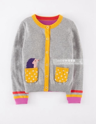 2016 Spring Autumn Children s Clothes Baby Long Sleeved Cotton Girl Cardigan Sweaters Kids Sweatercoat 2