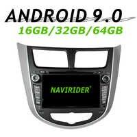 Navirider GPS navigation pour Hyundai Accent SOLARIS I 2011 écran tactile DVD voiture android 9 64 gb rom radio bluetooth lecteur stéréo