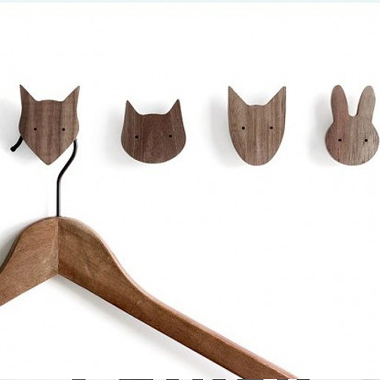 Newest design boys girls kids room wooden fox pillow on wall decorative behind door in children - Kids decorative wall hooks ...