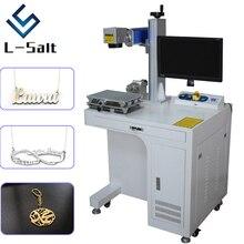 Волоконная лазерная маркировочная машина для металлической глубокой гравировки и резки имя ожерелье ювелирные изделия