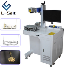 Fiber laser marking machine for metal deep engraving and cutting name necklace jewelry