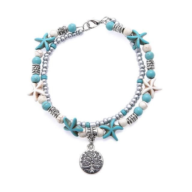 Bohemia Sea Turtle Starfish Charms Beach Anklet Shell For Women Boho Style