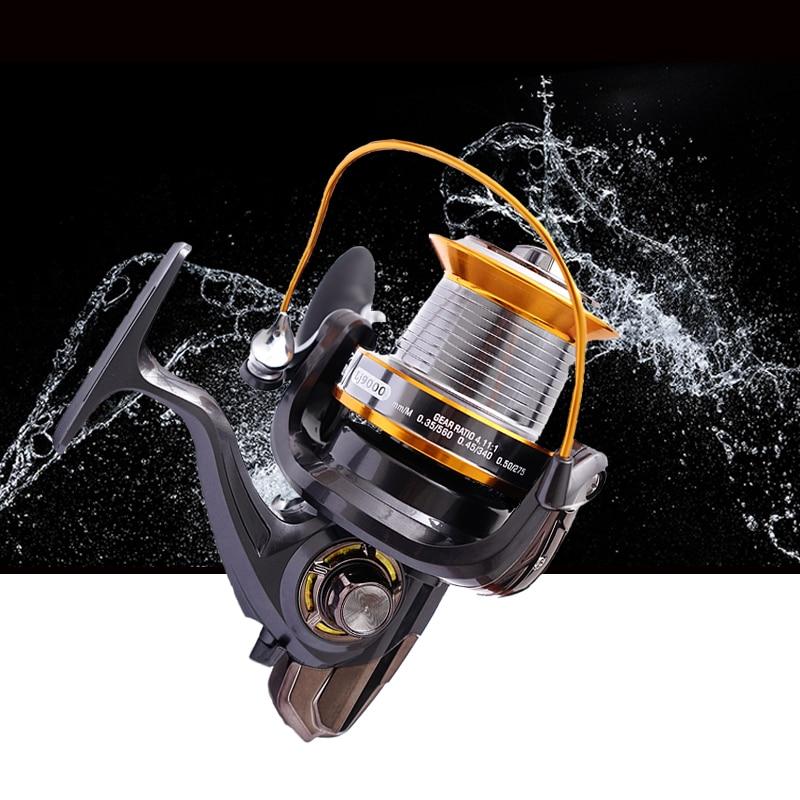 LJ9000 Seires 13 Ball Bearings Trolling Fishing Reels High Speed 4.11:1 Super Big Long Casting Sea Spinning Fishing Reel D0