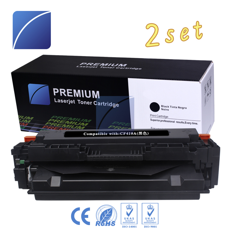 2PCS CF410A 411 412 Toner cartridge Compatible For HP Color LaserJet Pro M452dn M452dw M452nw MFP M377dw M477fdn M477fdw M477fnw стоимость