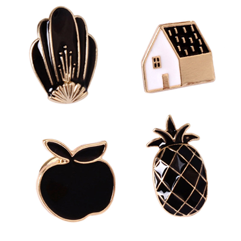 New Arrival Girl Brooches Popular Lovely Pineapple House Fox Alloy Brooches Pins Buttton Pin Fashion Jewelry ...