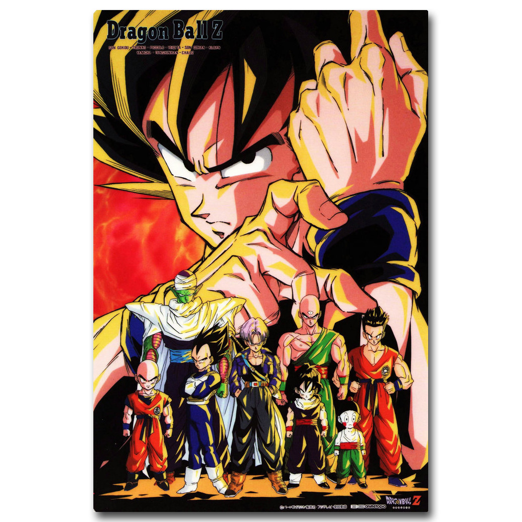 NICOLESHENTING Dragon Ball Z All Characters Art Silk Poster 13x20 24x36inch New Japanese Anime Wall Pictures For Home Decor 002