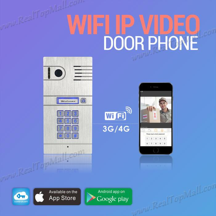 Wireless Wifi IP Video door intercom Camera Doorbell SmartPhone Remote Control IP Smart Doorbell via ISO Andrio system Tablets ip video door phone intercom system wireless control ip camera video intercom remote control smart doorbell via smartphones